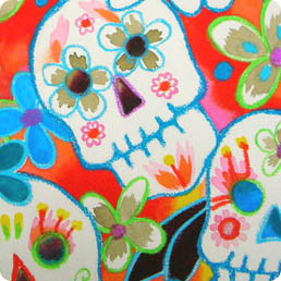 This is a companion to the Calaveras de color series, but without the glitter