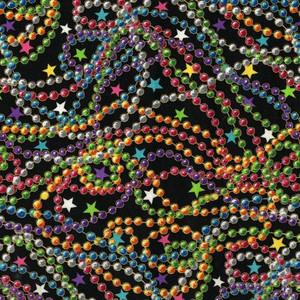 Mardi gras beads in multiple colors, companion to Celebrations 2 Fiesta