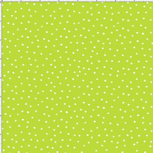 dinky dots lime/wht