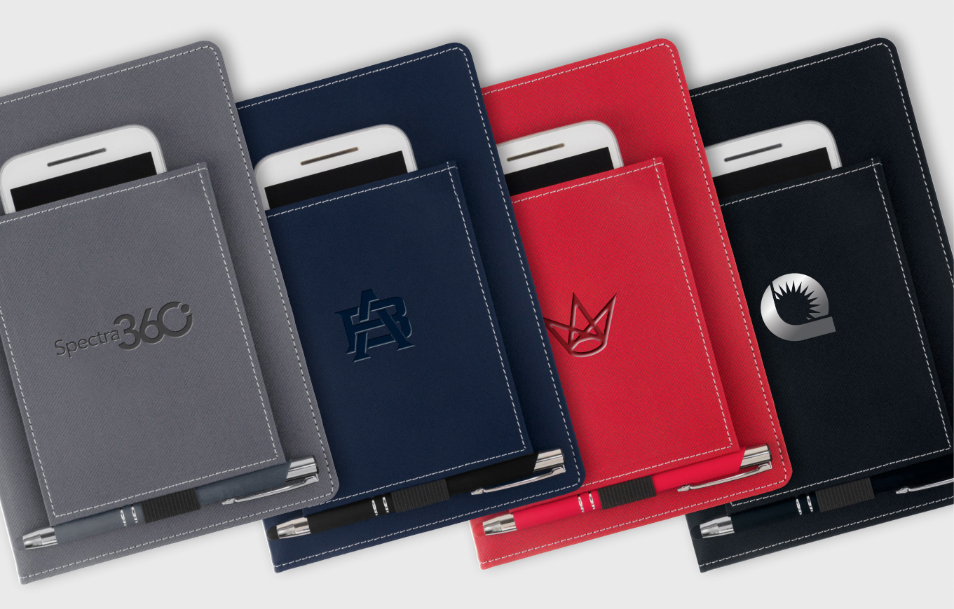 Hardcover with Cell Phone Pocket