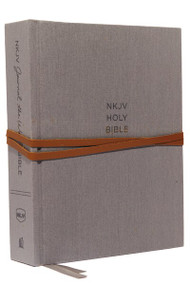 NKJV, Journal the Word Bible, Cloth over Board, Gray, Red Letter, Comfort Print (Reflect, Journal, or Create Art Next to Your Favorite Verses) by Thomas Nelson, 9780785218395
