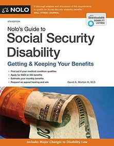 Nolo's Guide to Social Security Disability (Getting & Keeping Your Benefits) by David Morton III, 9781413324846