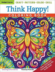 Think Happy! Coloring Book (Craft, Pattern, Color, Chill) by Thaneeya McArdle, 9781497204119