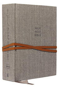 NKJV, Journal the Word Reference Bible, Cloth over Board, Gray, Red Letter, Comfort Print (Let Scripture Explain Scripture. Reflect on What You Learn.) by Thomas Nelson, 9780785220244