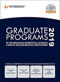 Graduate Programs in the Biological/Biomedical Sciences & Health-Related Medical Professions 2019 (Grad 3), 9780768942231