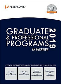 Graduate & Professional Programs: An Overview 2019 (Grad 1), 9780768942286
