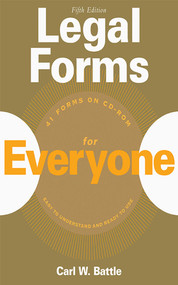 Legal Forms for Everyone by Carl W. Battle, 9781581154511