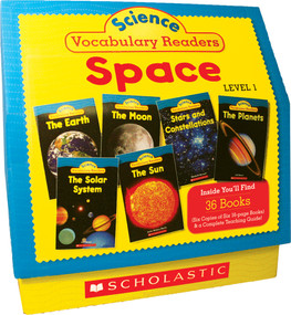 Science Vocabulary Readers: Space (Exciting Nonfiction Books That Build Kids' Vocabularies Includes 36 Books (Six copies of six 16-page titles) Plus a Complete Teaching Guide Book Topics: Solar System, Earth, Sun, Moon, Planets, Stars and Constella.. by Liza Charlesworth, 9780545149198
