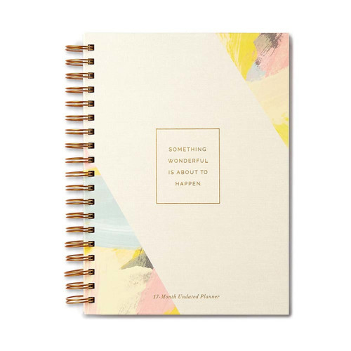 Planner - Something wonderful is about to happen (17 month), 9781946873118