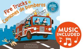 Fire Trucks / Camiones de bomberos by Nadia Higgins, Sr. Sanchez, Salsana Salsana Music, 9781684103393