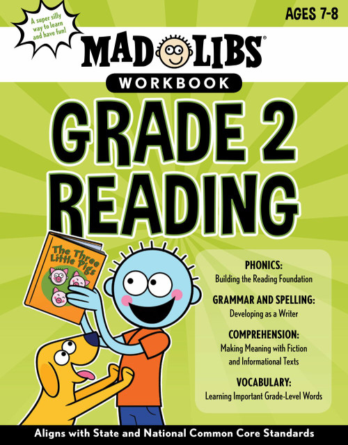 Mad Libs Workbook: Grade 2 Reading by Wiley Blevins, Mad Libs, 9780593096161