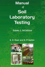 Manual of Soil Laboratory Testing - 9781904445692 by K. H. Head, R. J. Epps, 9781904445692