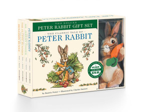 The Peter Rabbit Deluxe Plush Gift Set (The Classic Edition Board Book + Plush Stuffed Animal Toy Rabbit Gift Set) by Beatrix Potter, Charles Santore, 9781604338287