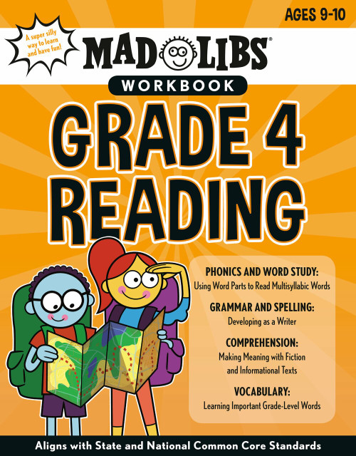 Mad Libs Workbook: Grade 4 Reading by Wiley Blevins, Mad Libs, 9780593222843