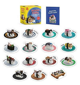 Sushi Cats Magnet Set (They're Magical!) (Miniature Edition) by Tange & Nakimushi Peanuts, Sam Stall, 9780762497324