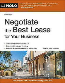 Negotiate the Best Lease for Your Business - 9781413328028 by Janet Portman, 9781413328028