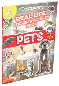 Discovery Real Life Sticker and Activity Book: Pets by Courtney Acampora, 9781684128242