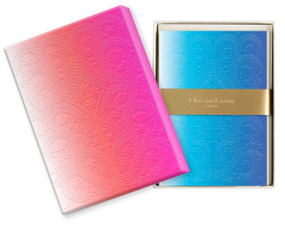 Christian Lacroix Neon Ombre Paseo Boxed Notecards (Miniature Edition) by Christian Lacroix, Galison, 9780735351387