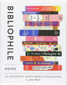Bibliophile Notes (20 Different Notecards & Envelopes (Notecards for Book Lovers, Illustrated Notecards, Stationery)) (Miniature Edition) by Jane Mount, 9781452167244