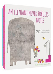 An Elephant Never Forgets Notes (20 Notecards & Envelopes) (Miniature Edition) by Alice Lotti, 9781452168357