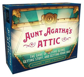 Aunt Agatha's Attic (The Game of Getting Along, Getting Stuff, and Getting Your Way (Fun and Fast Family Card Game, Quick and Easy Negotiation and Set Collection Game)) (Miniature Edition) by Doug Levandowski, 9781452176925