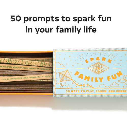 Spark Family Fun (50 Ways to Play, Laugh, and Connect (Fun Family Game, Game Road Trips, Travel, or at Home)) (Miniature Edition) by Chronicle Books, 9781452178202