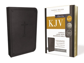 KJV, Reference Bible, Compact, Large Print, Leathersoft, Black, Red Letter, Comfort Print (Holy Bible, King James Version) (Miniature Edition) by Thomas Nelson, 9780785215899