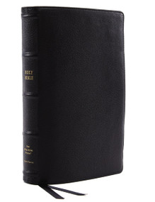 NKJV, Reference Bible, Classic Verse-by-Verse, Center-Column, Premium Goatskin Leather, Black, Premier Collection, Red Letter, Comfort Print (Holy Bible, New King James Version) by Thomas Nelson, 9780785231271