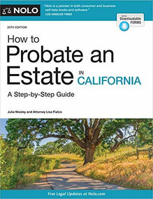 How to Probate an Estate in California - 9781413328424 by Julia Nissley, Lisa Fialco, 9781413328424
