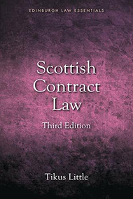 Scottish Contract Law Essentials - 9781845861513 by Tikus Little, 9781845861513