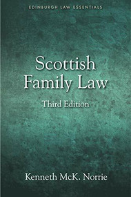 Scottish Family Law by Kenneth McK. Norrie, 9781845861537