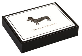 Alice Scott Vintage Prints Dapper Dachshund Luxe Thank You Notes (Miniature Edition) by Galison, Alice Scott, 9780735343641