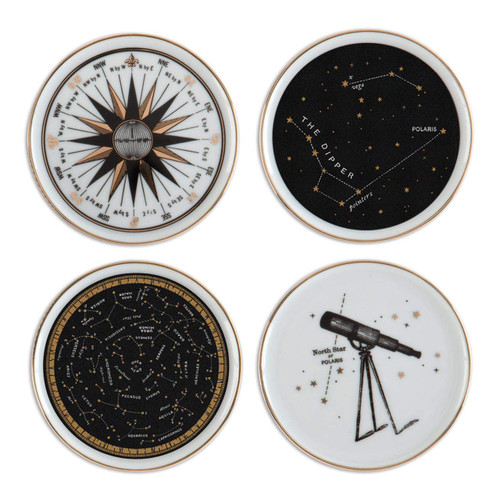 Alice Scott Porcelain Coaster Set (Miniature Edition) by Galison, Alice Scott, 9780735348134
