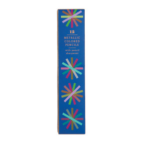 Metallic Colored Pencil Set with Pencil Sharpener by Galison, 9780735348363