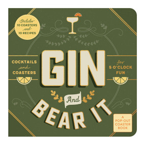 Gin and Bear It Coaster Board Book by Galison, 9780735361171