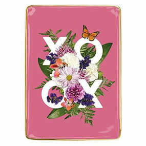 Say It With Flowers XOXO Porcelain Tray by Galison, 9780735362765