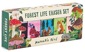 Forest Life Eraser Set ((Cute Office Supplies, Cute Desk Accessories, Back to School Supplies)) (Miniature Edition) by Nathalie Lete, 9781452164793
