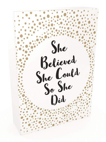 She Believed She Could So She Did (52 Beautiful Cards of Inspiring Quotes and Empowering Affirmations) by Summersdale, 9781787835184