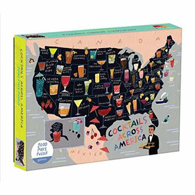 Cocktail Map of the USA 1000 Piece Puzzle by Galison, 9780735357860
