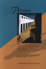 Persons - What Philosophers Say about You by Warren Bourgeois, 9780889203792