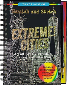Scratch & Sketch Extreme Cities (Trace-Along) (An Art Activity Book for Artistic Jet-Setters Ages 10+) by Daker Abi, 9781441334107
