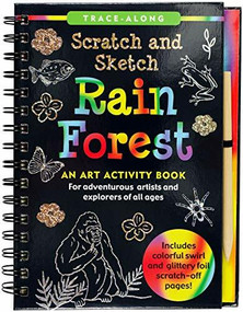 Scratch & Sketch Rain Forest (Trace-Along) (An Art Activity Book) by Beilenson Suzanne, Zschock Martha Day, 9781441332561