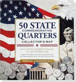 50 State Quarters Collector's Map (Including the District of Columbia and the U.S. Territories) by Lindroth David, 9781441312310