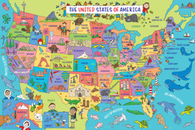 USA Map Kids' Floor Puzzle, 9781441333339