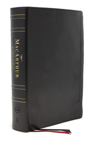 The NKJV, MacArthur Study Bible, 2nd Edition, Genuine Leather, Black, Thumb-indexed, Comfort Print (Unleashing God's Truth One Verse at a Time) by John F. MacArthur, Thomas Nelson, 9780785241805
