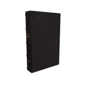 NKJV, Large Print Verse-by-Verse Reference Bible, Maclaren Series, Premium Goatskin Leather, Black, Comfort Print (Holy Bible, New King James Version) by Thomas Nelson, 9780785242833