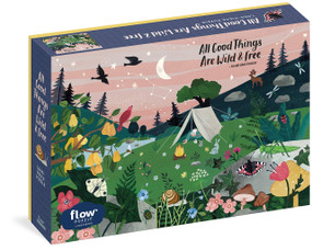 All Good Things Are Wild and Free 1,000-Piece Puzzle (Flow) Adults Families Picture Quote Mindfulness Gift by Irene Smit, Astrid van der Hulst, Editors of Flow magazine, Valesca van Waveren, 9781523509379