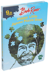 Bob Ross Happy Little Jigsaw Puzzle Book by Editors of Thunder Bay Press, 9781684129171