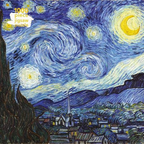 Adult Jigsaw Puzzle Van Gogh: Starry Night (1000-piece Jigsaw Puzzles) by Flame Tree Studio, 9781786644893