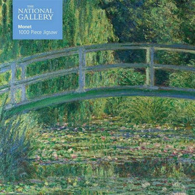 Adult Jigsaw Puzzle National Gallery Monet: Bridge over Lily Pond (1000-piece Jigsaw Puzzles) by Flame Tree Studio, 9781787552197